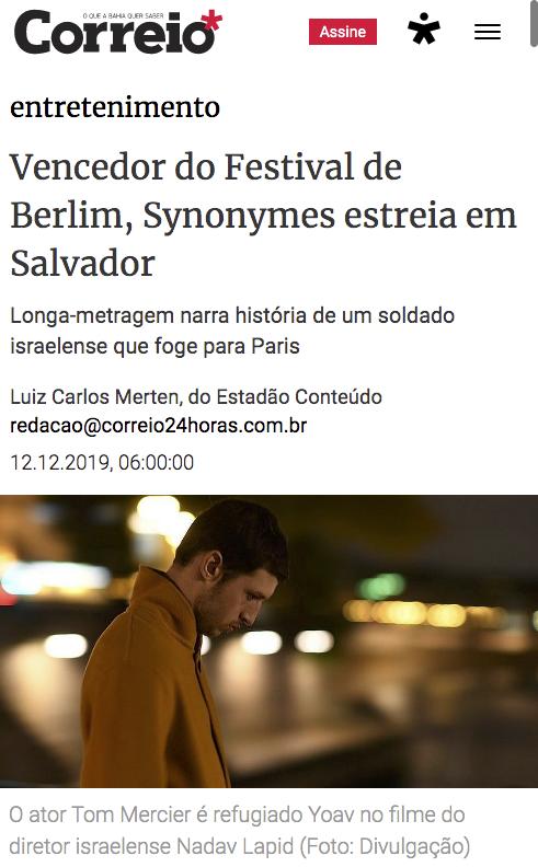 Vencedor do Urso de Ouro estreia em Salvador
