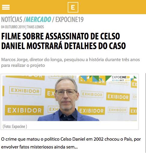 Filme sobre assassinato de Celso Daniel mostrará detalhes do caso