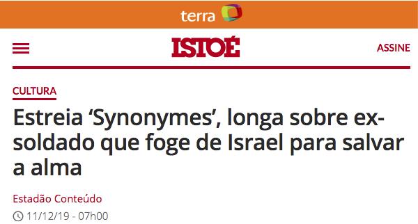 Nadav Lapid e a metáfora de Synonymes