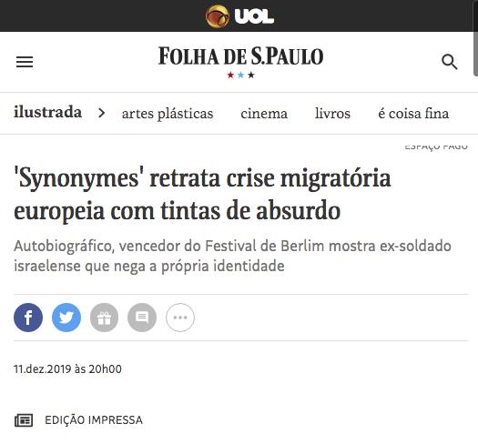 """""""Synonymes"""" retrata crise migratória"""