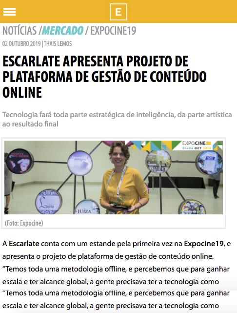 Escarlate apresenta projeto de plataforma de gestão de conteúdo online