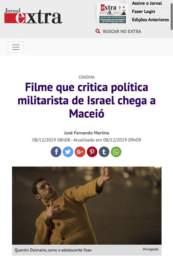 Filme que critica política militarista de Israel